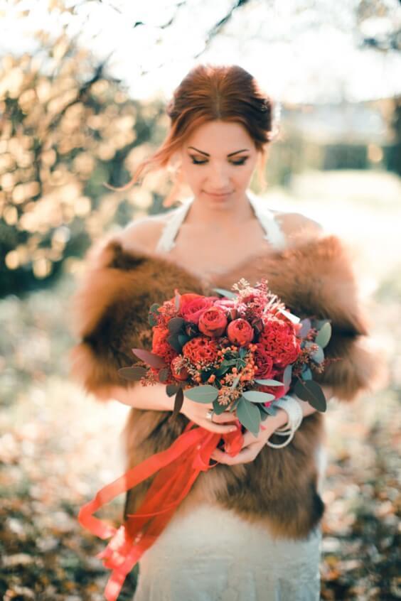 Стилистика осенней свадьбы